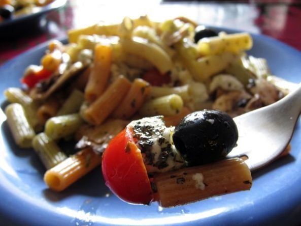 Ensalada de pasta a la mediterranea