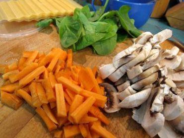 Lasaña vegetal de ricotta