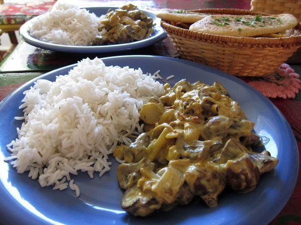 Curry de champiñones