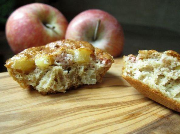 Magdalenas integrales de paté y manzana