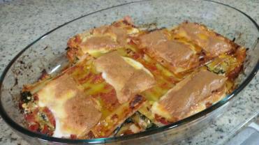 Lasaña de puerros y espinacas. Por http://vidaenpositivo.org/