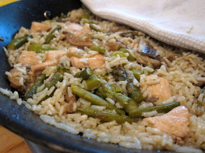 arroz-con-esparragos-setas-y-pollo