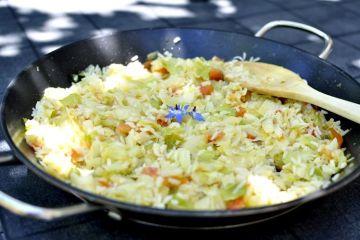 arroz salteado con repollo