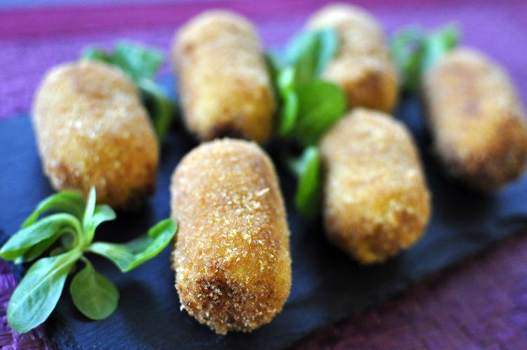 croquetas de coliflor con cúrcuma