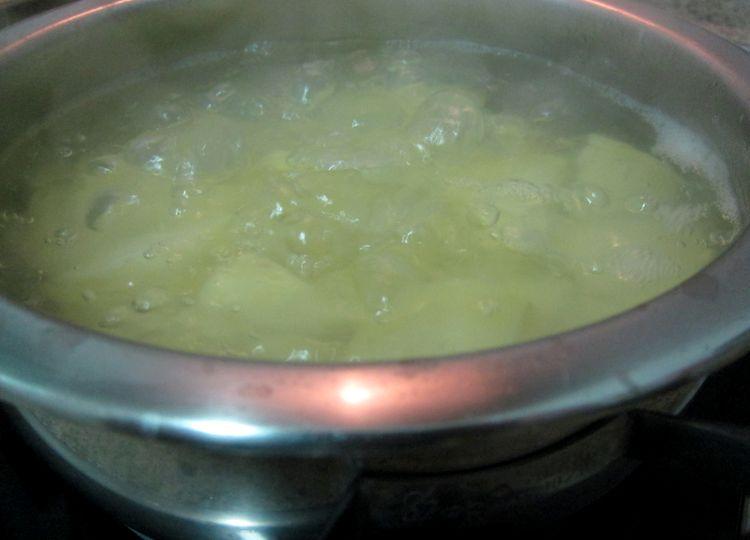 crema de patata con pulpo