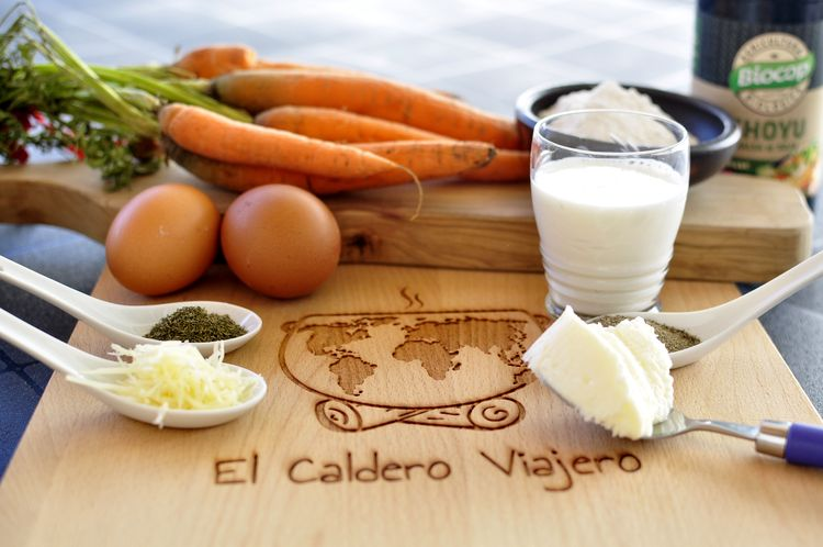 pudding de zanahoria vegetariano