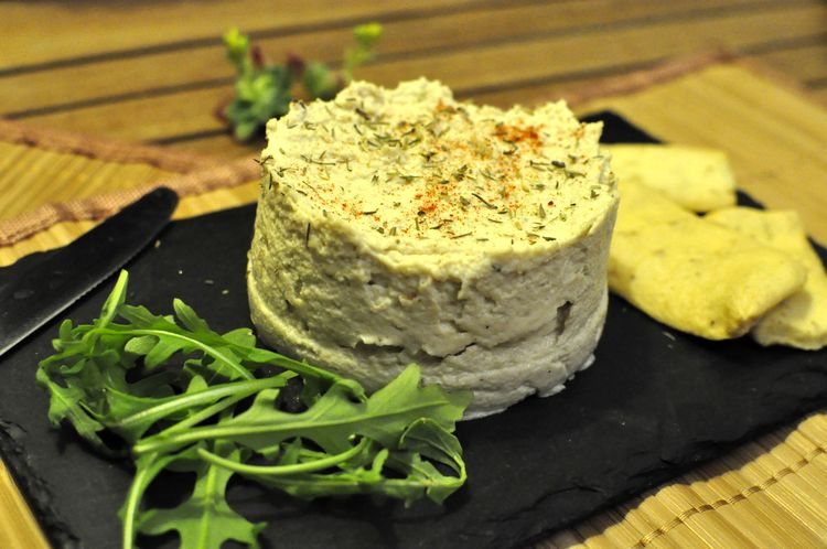 Queso crema vegano de anacardos