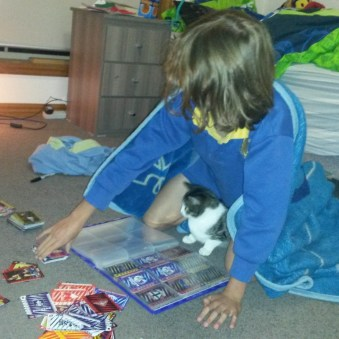 Playing footy cards