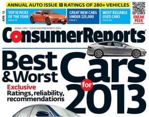 Tesla Motors попала в топ-10 автомобильных брендов по версии Consumer Reports