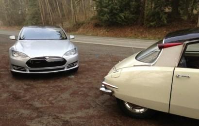 Tesla Model S Vs Citroen DS: футуристический автомобиль 50-летней давности