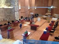 Preparatius a l'Absis del Castell