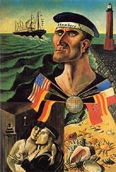 Farewell to Hamburg 1921-Otto-Dix