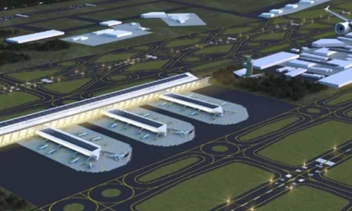 Así se vería el aeropuerto de Santa Lucía, según el plan maestro elaborado por Grupo Riobóo