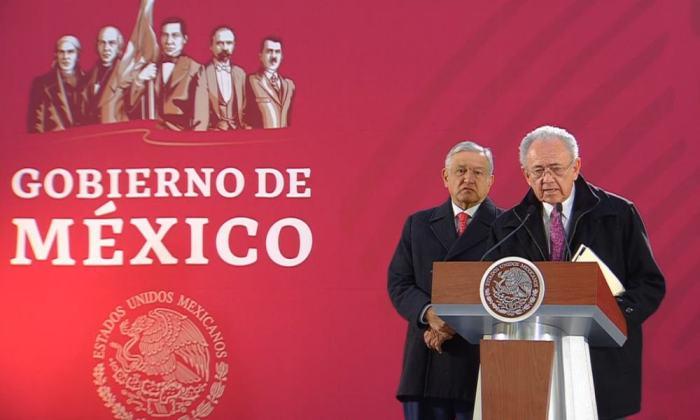 Andrés Manuel López Obrador y Javier Jiménez Espriú