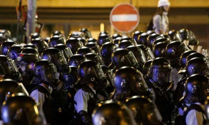 Hong Kong, policías