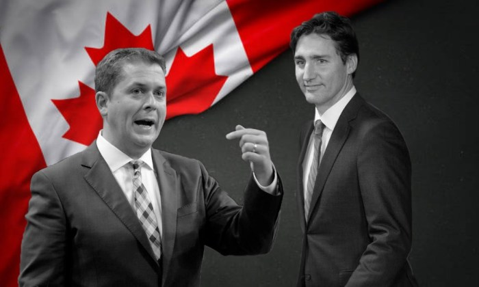 Andrew Scheer, Justin Trudeau, Canadá