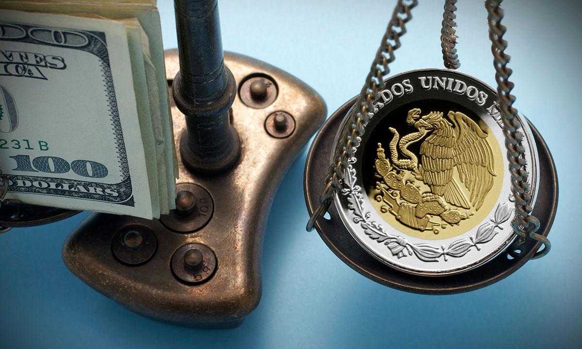 Peso contra dólar