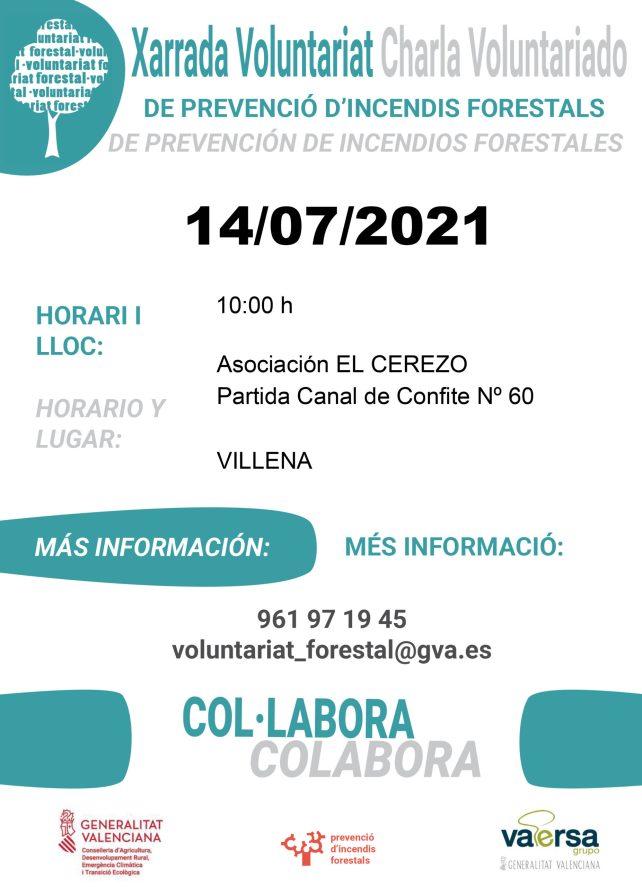 charla voluntariado de prevención de incendios forestales