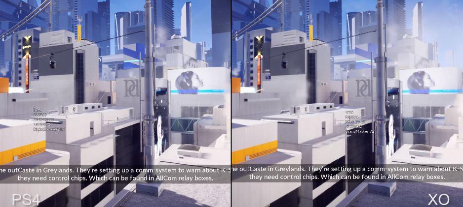 Comparación: Mirror's Edge en XOne y PS4