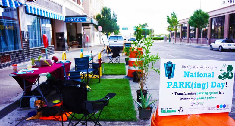 Nat'l Park(ing) Day in Downtown El Paso