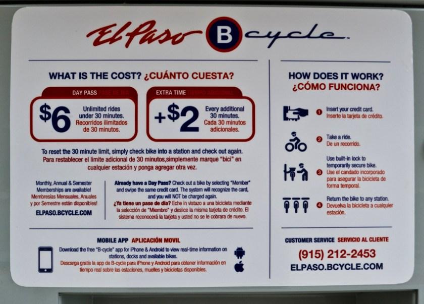 ep bike share kiosk sign