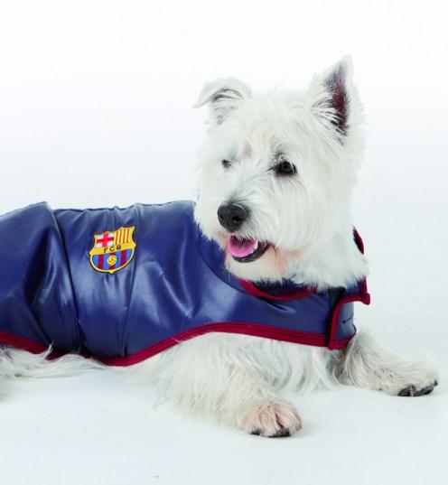 chubasquero del Barsa para perros