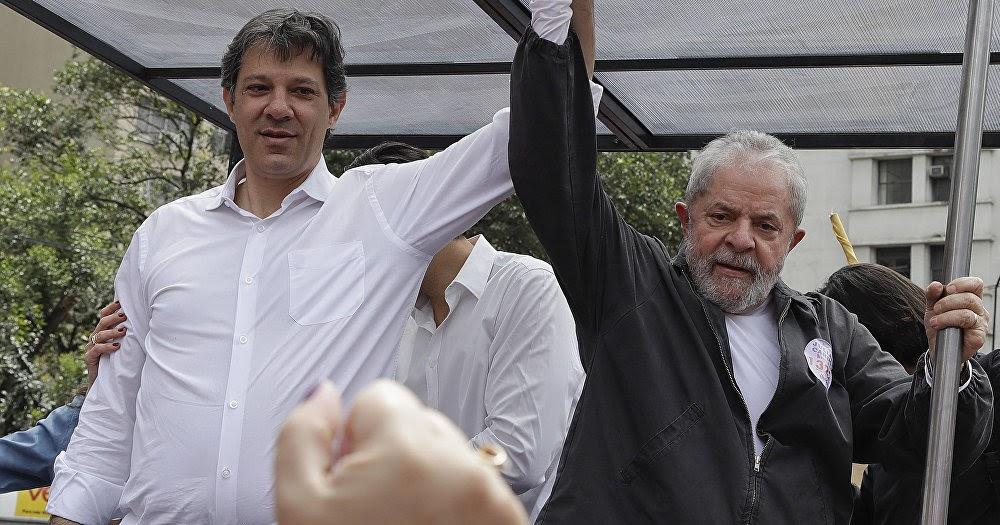 Foto: Cadena Noticia Sur (Lula y Haddad)