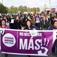 Ni una menos San Juan: marcharon en Albardón pidiendo justicia por Brenda