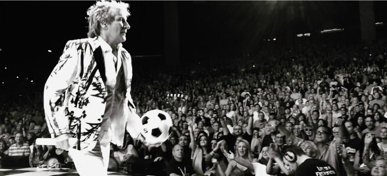 Rod Stewart, su pasión por el fútbol.