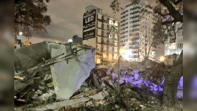 Photo of Un edificio en construcción se derrumbó sobre la colectora de General Paz