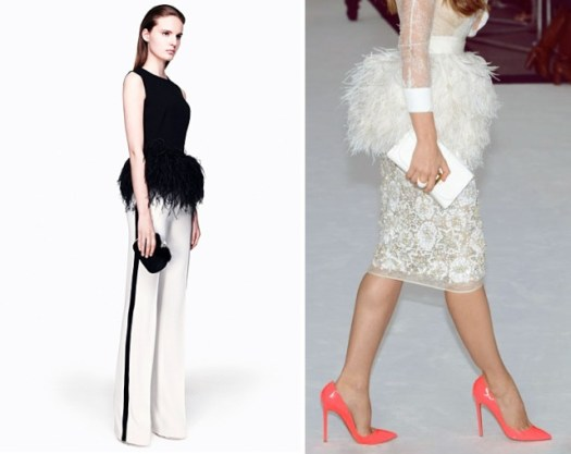 19Style Trend The Peplum. This season's must-have waist ruffle feminizes any piece. Black top with feather peplum by Alexander McQueen 2012 Fall-Winte
