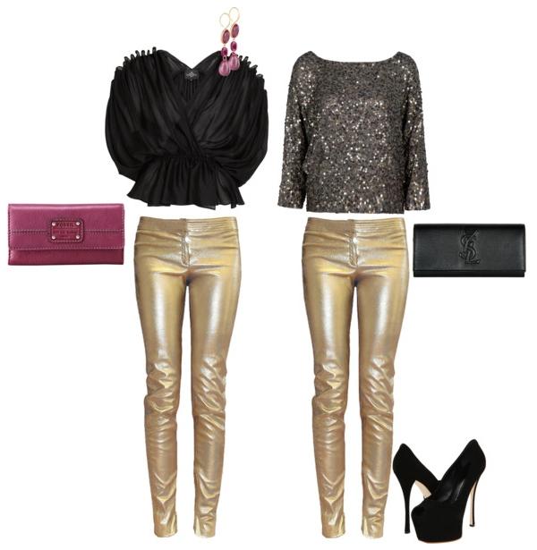 Pantalones Dorados O Plateados El Closet De Giuliana