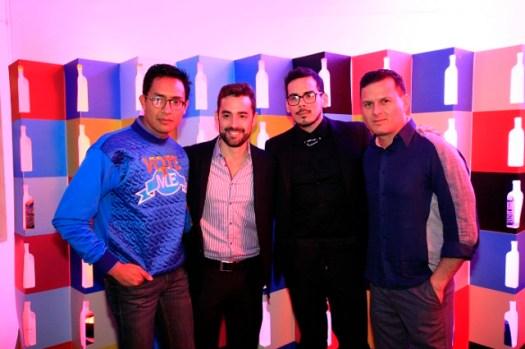 Edward Venero, Giannantonio Martínez, Roger Loayza y Sergio Dávila