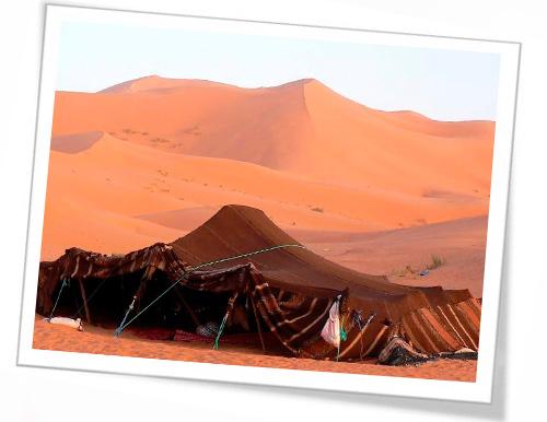 La ruta del té: viaje a Marruecos -Tomar el té en el desierto.