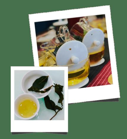Hebras de té en el viaje a Taiwán