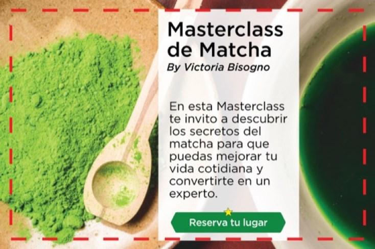 Masterclass de té verde Matcha