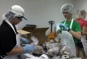 Andrew and Ryan at Second Harvest