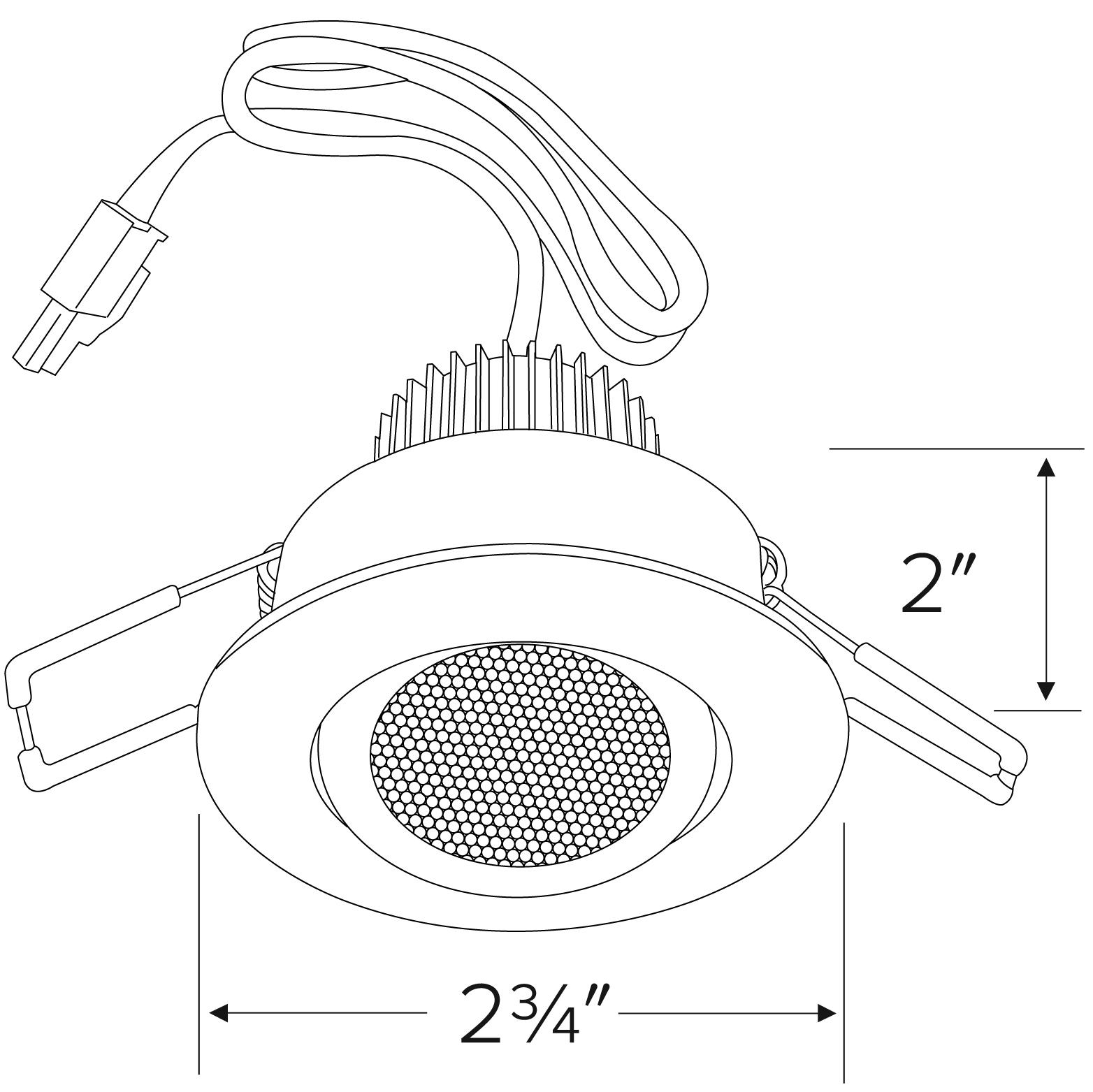 Clover Mini Led Gimbal Recessed Mount Light Kit