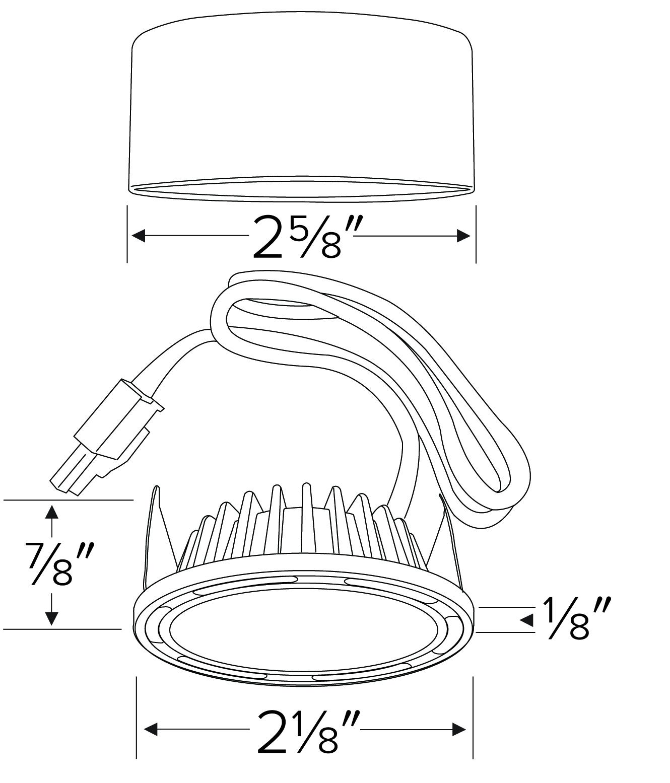 Xyris Mini Led Puck Light Kit