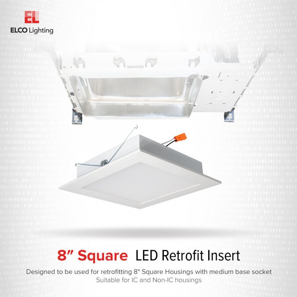 8 square led retrofit insert elco