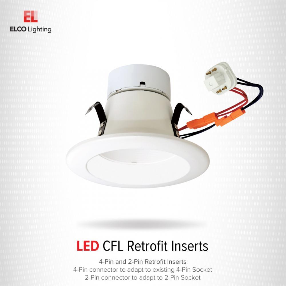 6 led cfl retrofit insert elco lighting