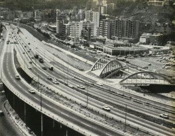 Vista de los puentes gemelos