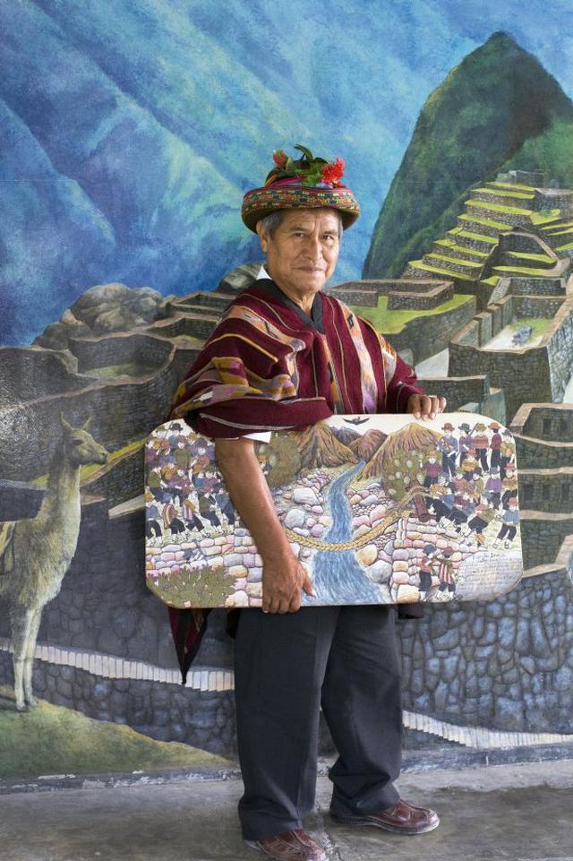 El artista sarhuino Primitivo Evanán Poma. (Foto: Archivo El Comercio)