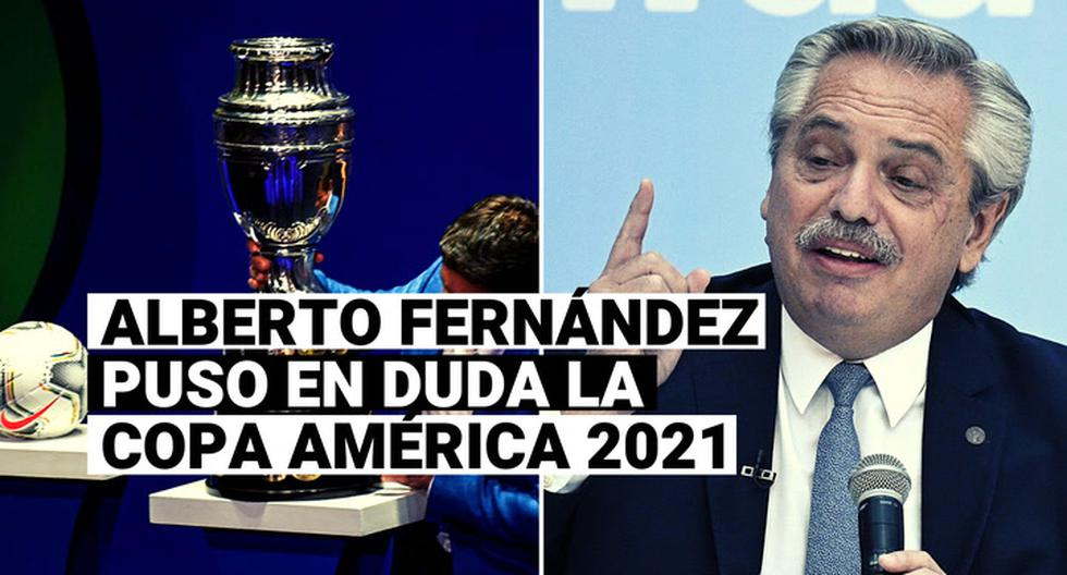"America's Cup 2021 |  President of Argentina Alberto Fernández: ""I don't want to frustrate the Copa América, but you have to be sensible"" 