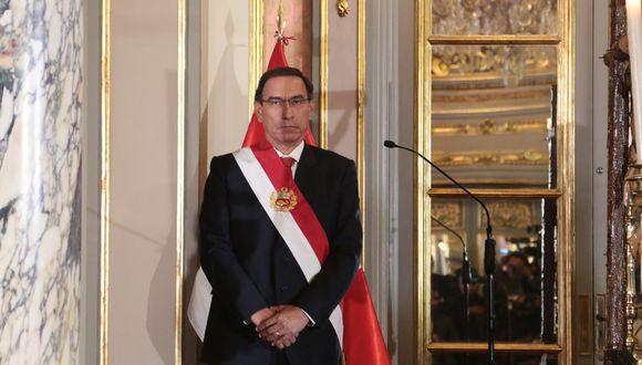 Presidente Martín Vizcarra afronta un pedido de vacancia (Foto: El Comercio)