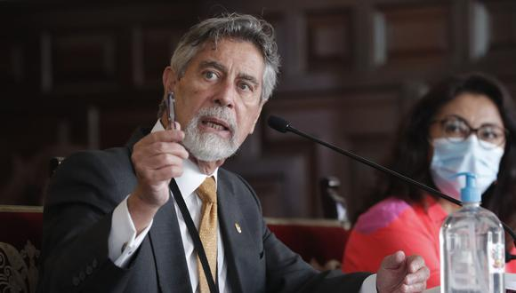 El presidente de la República, Francisco Sagasti,