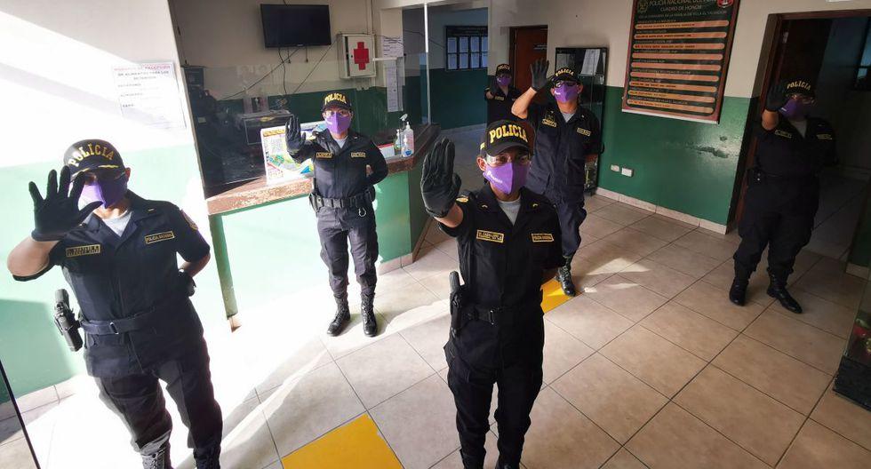 La comisaría de Familia de Villa El Salvador se ha sumado a la campaña #MascarillasVioleta