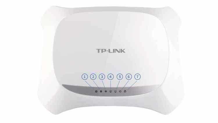 TP-Link TL-WR720N - индикаторы на передней панели