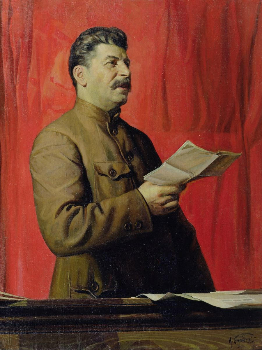 Retrato de Stalin, por Isaak Brodski.