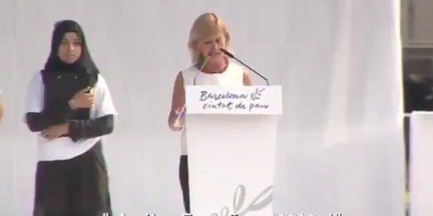 """""""¡Arriba España, cabrones!"""": Los lamentables gritos a Gemma Nierga durante el homenaje a las víctimas del 17-A"""